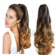 clip on ponytail new 20 synthetic hair wavy claw clip on ponytail haie