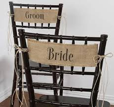and groom chair covers chair sashes chair banners