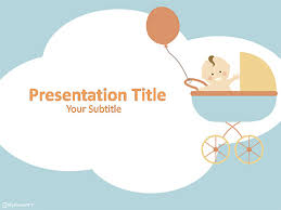 baby powerpoint presentation template free ba powerpoint template