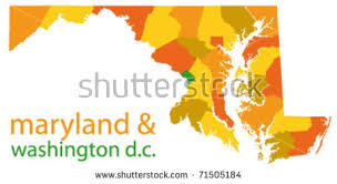 maryland map vector maryland state washington dc vector map stock vector 71505184