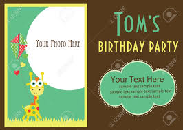 Birthday Invitation Card Kids Kid Invitation Card Design Vector Illustration Royalty Free