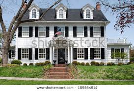 colonial house georgian colonial house stock photo 189564914