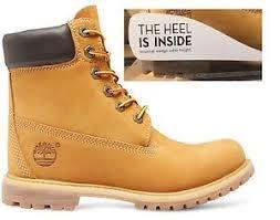 s boots wedge timberland s 6 inch premium waterproof wedge yellow
