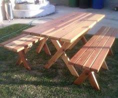 Build Your Own Picnic Table Plans by Free Diy Furniture Plans To Build A Potterybarn Inspired
