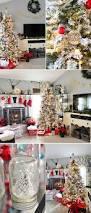 holiday home tour flocked christmas trees christmas tree and