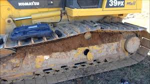 tensioning the dozer tracks youtube