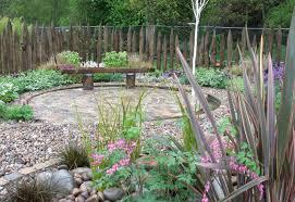 garden contemporary garden design with good log fence and single