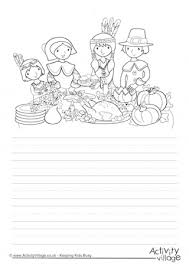 thanksgiving dinner story paper