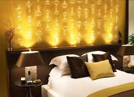 Bright Bedroom Lighting Bedroom Bright Dark Pillow Golden Bubble Wall Pattern Modern