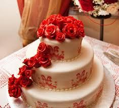 wedding cake red rose waterfall las vegas wedding cakes