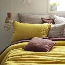 100 linen bag style pillowcase mustard yellow