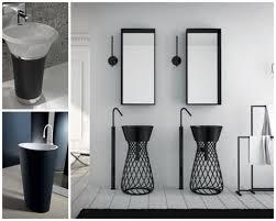 Black Faucet Bathroom by Pedestal Sink Storage Ideas Midcityeast