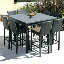 high table patio set counter height outdoor dining set counter height outdoor table