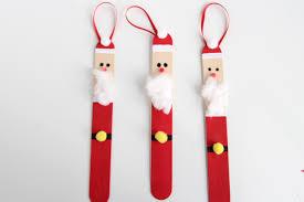popsicle stick santas one project