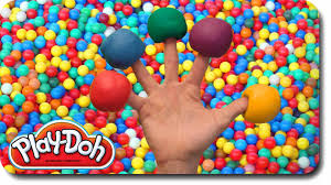 play doh finger family ball pit song for learning colors nursery