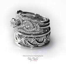his and wedding bands his hers infinity knot wedding rings set includes engagement