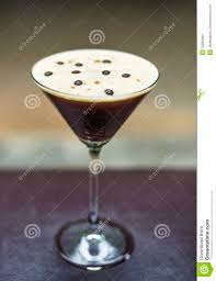 espresso martini espresso martini alcoholic cocktail drink stock images image