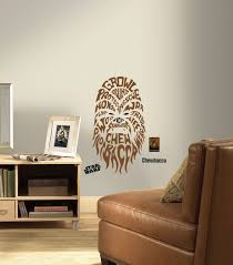 roommates star wars typographic chewbacca peel and stick giant roommates star wars typographic chewbacca peel and stick giant wall decals home decor tapestries appliques