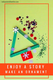 enjoy a story and make a simple ornament stick christmas tree