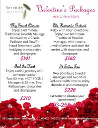 valentines specials s specials 2018 serenity salon day spa