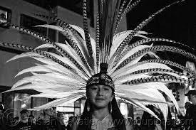 Aztec Halloween Costume Aztec Dancer Traditional Costume Feather Headdress