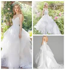 gergeous white tulle ball gown wedding dresses 2016 layered tulle