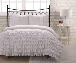 Twin White Comforter Set Bedroom Wonderful Ruffle Comforter For Excellent Bedding Design