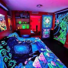 blacklight bedroom black light room bedrooms pinterest black light room room and