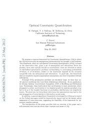 uncertainty quantification foundation optimal results in an