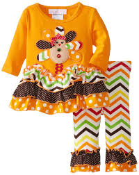 bonnie baby thanksgiving bonnie baby baby newborn gingerbread appliqued turkey legging