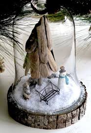 driftwood christmas tree bell jar tutorial paperblog