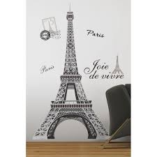Paris Wall Murals Details About Black Silver Giant Eiffel Tower Wall Decals Big