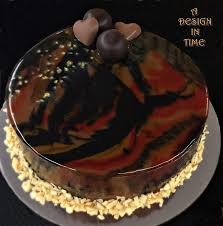 Chocolate Swirl Cake Decoration A Design In Time Mirror Cakes