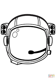 astronaut helmet coloring page free printable coloring pages