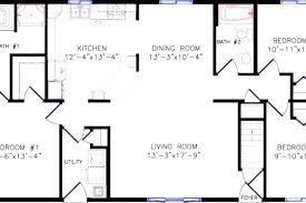 4 bedroom open floor plans 4 bedroom rectangular house plans astounding design open floor