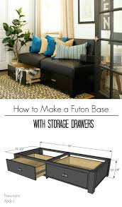 pneumatic addict how to build a futon base with storage drawers