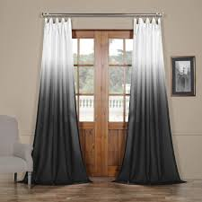 Ombre Sheer Curtains Get Ombre Black Faux Linen Sheer Curtain