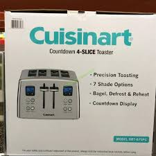 Cuisinart Toaster 4 Slice Costco 834664 Cuisinart 4 Slice Countdown Toaster Box U2013 Costcochaser
