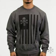 patriot crewneck sweater heavy metal barbell brigade dressed