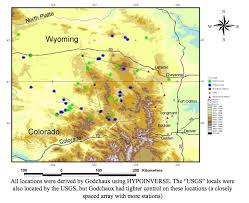 colorado front range map a microseismic survey of the northern colorado front range jd
