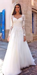 be the most beautiful bride with long sleeve lace wedding dress