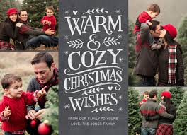 warm u0026 cozy chalkboard lettering christmas card cardstore
