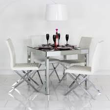 mirrored dining room table mirrored dining table sophie