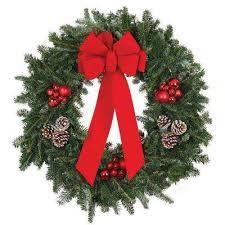 christmas wreaths fresh christmas wreaths christmas wreaths garland the home depot