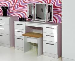 white table with drawers vogue high gloss dressing table white black or cashmere finishes