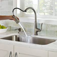 waterfall faucet brushed nickel accessories u2014 wonderful kitchen