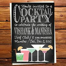 cocktail party invitation cards chalkboard art