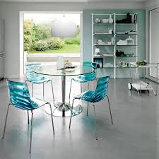 Blue Table L Interior Outstanding Calligaris Planet Glass Top Dining