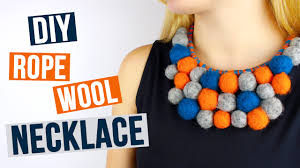 diy wool necklace youtube
