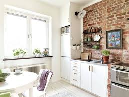 kitchens with brick walls kitchens with red brick walls kitchen ideas fake siding effect
